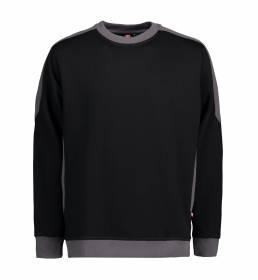 ID Ekstra slidstærk to-farvet sweatshirt med rund hals sort
