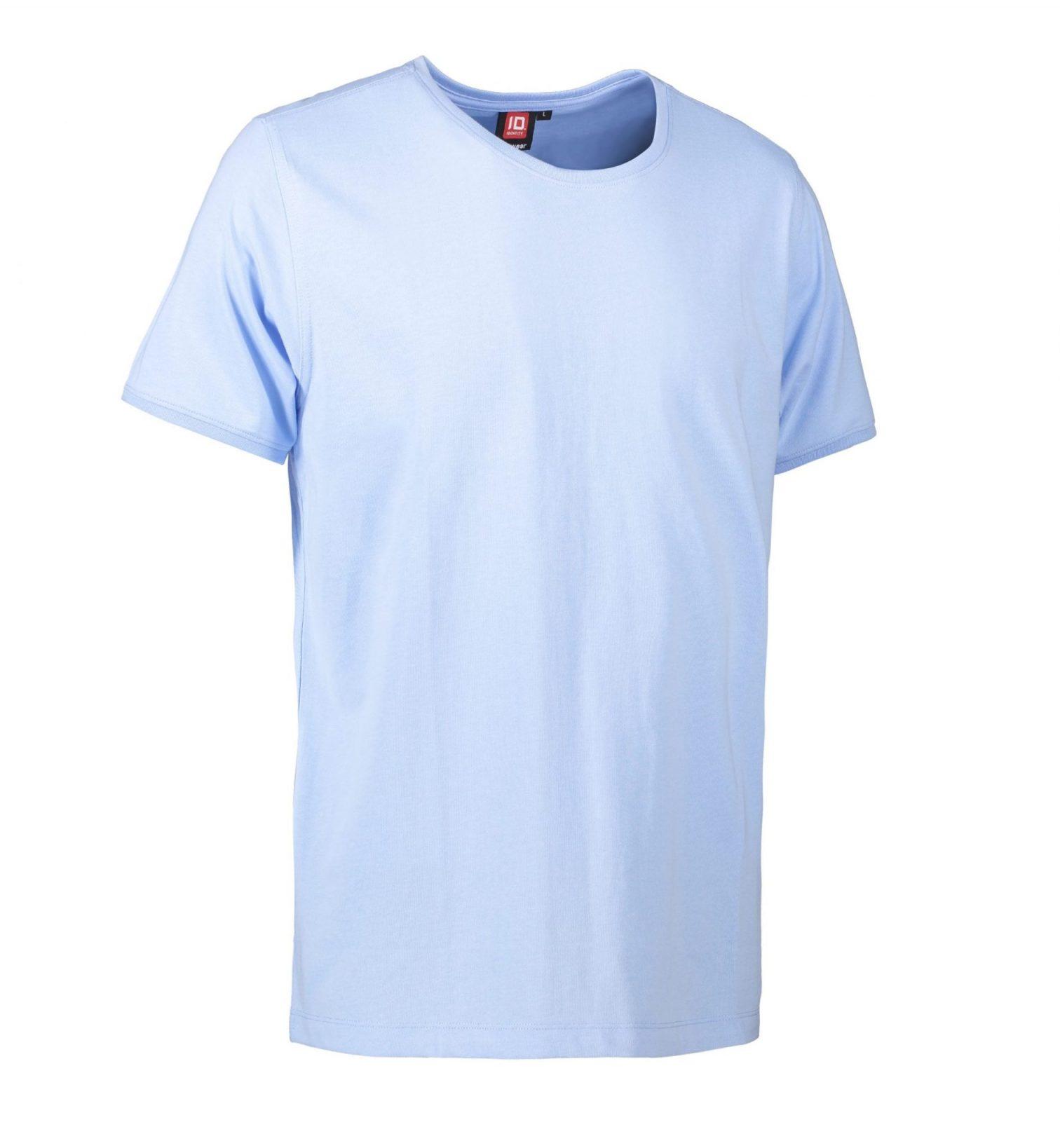 ID PRO Wear CARE T-shirt EU-Blomst certificeret herre lys blå