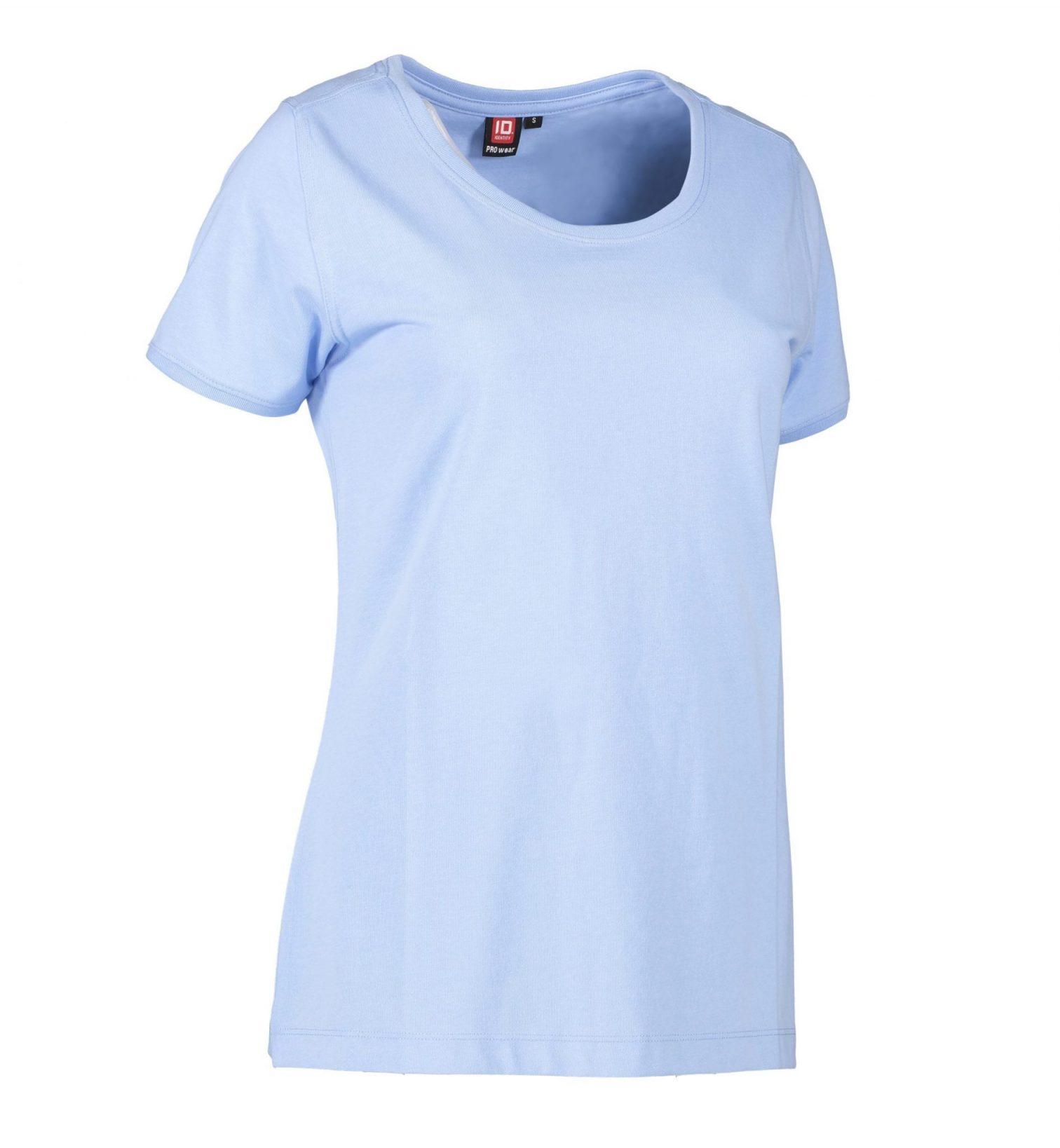 ID PRO Wear CARE T-shirt EU-Blomst certificeret dame lys blå