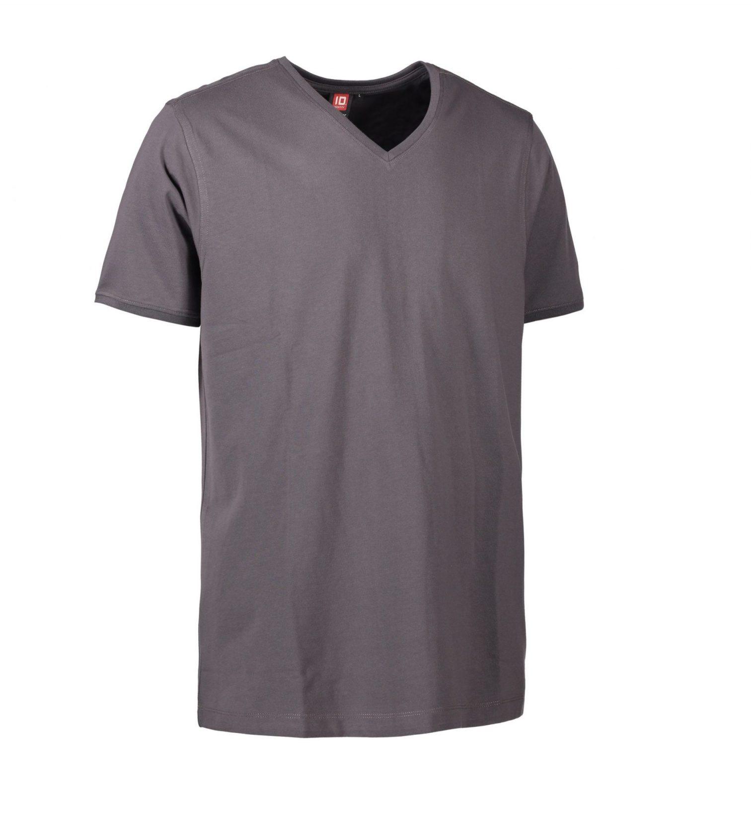 ID PRO Wear CARE T-shirt v- hals EU-Blomst certificeret herre grå