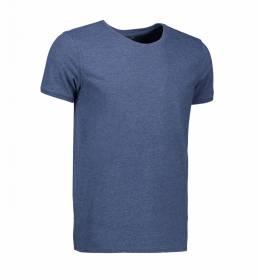 ID T-shirt med rund hals herre blå melange