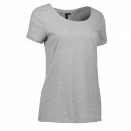 ID T-shirt med rund hals dame grå melange