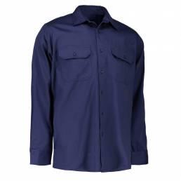 Arbejdsskjorte bomuld unisex blå