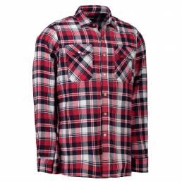 ID Slidstærk klassisk skovmandsskjorte trykknap herre rød