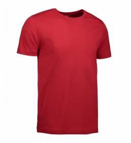 ID T-shirt i en tætsiddende model med smal halsrib og nakkebånd herre rød