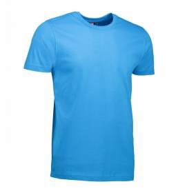 ID T-shirt i en tætsiddende model med smal halsrib og nakkebånd herre turkis