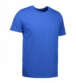 ID T-shirt i en tætsiddende model med smal halsrib og nakkebånd herre kongeblå