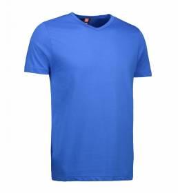 ID T-shirt med V-hals i en tætsiddende model herre kongeblå
