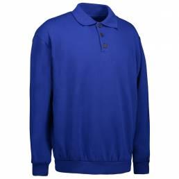 Klassisk polosweatshirt Unisex kongeblå