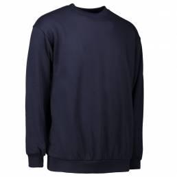 ID Klassisk sweatshirt 100 % bomuld unisex navy