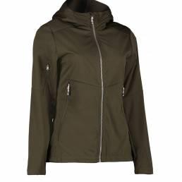 ID Letvægts softshell jakke i ID Tech® dame oliven