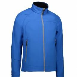 ID Soft shell-letvægtsjakke med høj funktionalitet herre blå