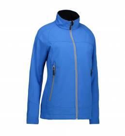 ID Soft shell-letvægtsjakke med høj funktionalitet dame blå