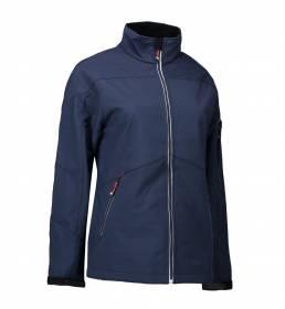 ID Softshell jakke kontrast dame navy