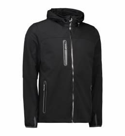 ID Softshell letvægts jakke kontrast herre sort