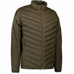 ID Lækker vatteret stretch jakke sporty look herre oliven