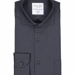 Seven Seas Mod Fit Elegant business-skjorte non iron-kvalitet herre koks grå