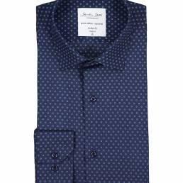 Seven Seas Skjorte med print Easy Care-kvalitet modern fit