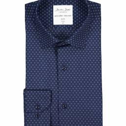 Seven Seas Skjorte med print Easy Care-kvalitet slim fit