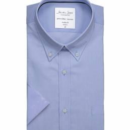 Seven Seas modern fit Oxford-skjorte button down-flip Easy Care- kvalitet herre lys blå