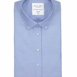 Seven Seas Oxford-dameskjorte i forbedret Easy Care-kvalitet dame lys blå