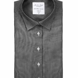 Seven Seas Moderne business-skjorte i fin nålestribet twillkvalitet med Non Iron finish dame mørk grå