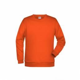 Herre sweatshirt med rund hals og mulighed for logo trykt eller broderet