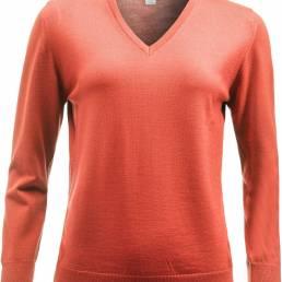 Kvalitets V-hals strik i100% ekstra fin merino uld med blød cashmere følelse til den kræsne fra CUTTER & BUCK - vi tilbyder at brande den med trykt eller broderet logo.