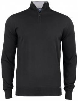 Maskine vaskbar half zip sweater i merionould til den kræsne fra CUTTER & BUCK - vi tilbyder at brande den med trykt eller broderet logo