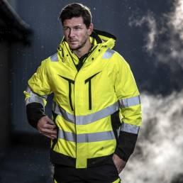 Sikkerheds arbejdstøj High-visibility 3-i-1 jakke. - vi tilbyder at brande den med trykt eller broderet logo